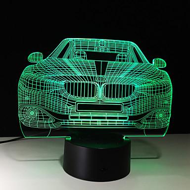 1buc tactil de 7 culori masina a condus lampă 3d lumina de culoare viziune stereo colorat cu gradient acrilic viziune de lumină lampă de