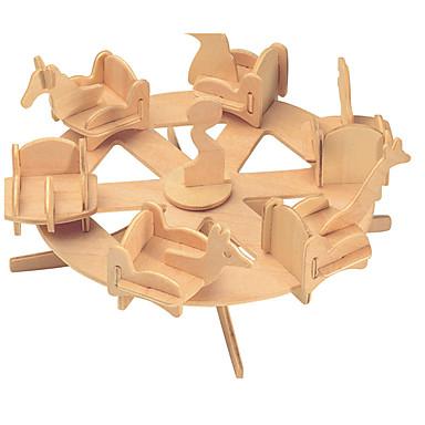 puzzle-uri Kit Lucru Manual Lego Puzzle 3D Jucării Educaționale Puzzle Puzzle Lemn Blocuri de pereti DIY JucariiCircular Clădire celebru