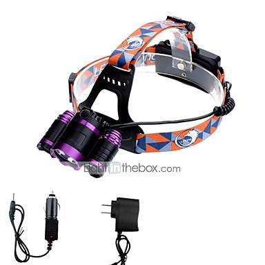 U'King Φακοί Κεφαλιού LED 3 τρόπος φωτισμού με φορτιστές Zoomable / Ρυθμιζόμενη Εστίαση / Εύκολη μεταφορά Κατασκήνωση / Πεζοπορία / Εξερεύνηση Σπηλαίων / Καθημερινή Χρήση / Ποδηλασία