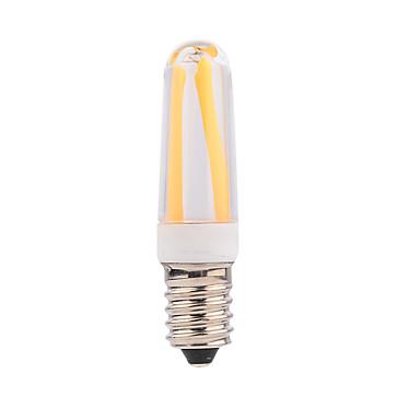 1pc 4 W 300-350 lm E14 LED Λάμπες Πυράκτωσης T 4 leds COB Με ροοστάτη Θερμό Λευκό Ψυχρό Λευκό AC 220-240V