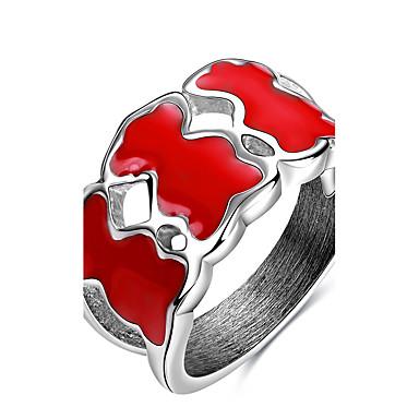 Pentru femei Inel Inel de declarație Band Ring Argintiu Oțel titan Altele Personalizat Design Unic Euramerican Hip-Hop Modă Punk