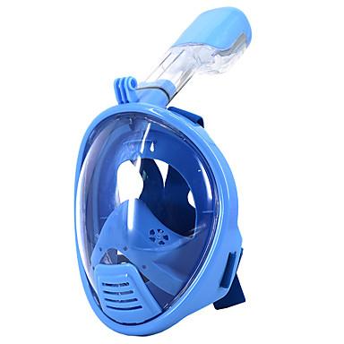 Maski do nurkowania / Maska do snorkelingu Anti-Fog, Maska pełnotwarzowa, Podwodny Single Window - Pływacki, Nurkowanie Silikonowy - dla Dzieci Niebieski / Różowy