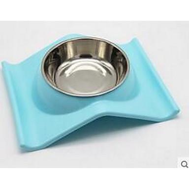 كلب مغذيات حيوانات أليفة السلطانيات والتغذية المحمول قابلة للطى أخضر أزرق زهري
