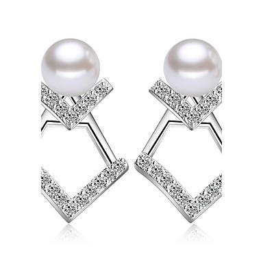 Απομίμηση Μαργαριτάρι Κουμπωτά Σκουλαρίκια Κοσμήματα Γάμου Πάρτι Καθημερινά Causal Απομίμηση Μαργαριταριού 1 ζευγάρι Ασημί