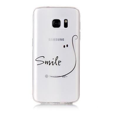 tok Για Samsung Galaxy S7 edge S7 Με σχέδια Πίσω Κάλυμμα Λέξη / Φράση Μαλακή TPU για S7 edge S7