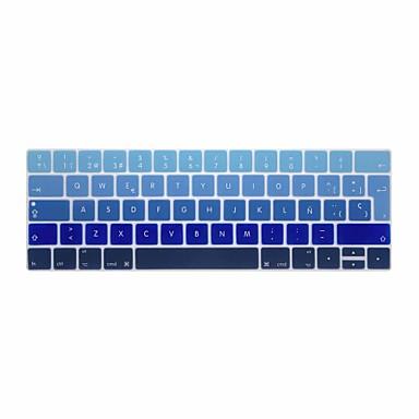 xskn® avrupa ispanyolca degrade silikon klavye deri ve dokunmatik çubuğu retina ile 13.3 / 15.4 pro 2016 yeni macbook için touchbar