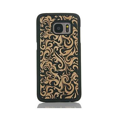 Etui Käyttötarkoitus Samsung Galaxy S7 edge S7 Kuvio Takakuori Kukka Kova Bambu varten S7 edge S7 S6 edge S6