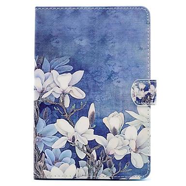 Pouzdro Uyumluluk Apple iPad Mini 4 iPad Mini 3/2/1 Satandlı Temalı Tam Kaplama Kılıf Çiçek Sert PU Deri için iPad Mini 4 iPad Mini 3/2/1