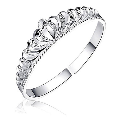 Pentru femei Brățări Bantă - Ștras, Argilă Κορώνα Modă, Deschis Brățări Argintiu Pentru Cadouri de Crăciun / Ocazie specială / Aniversare