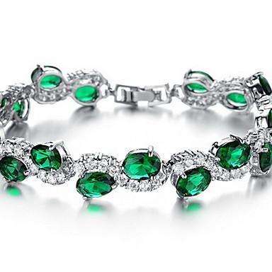 Bransoletki i łańcuszki na rękę Kryształ Synthetic Emerald Modny Kryształ Cyrkon Imitacja diamentu Stop Inne Biżuteria Specjalne okazje