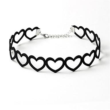 Circle Shape Καρδιά Love Κολιέ Τσόκερ Κοσμήματα Βαμβακοφανέλλα Κολιέ Τσόκερ , Γενέθλια Καθημερινά Causal