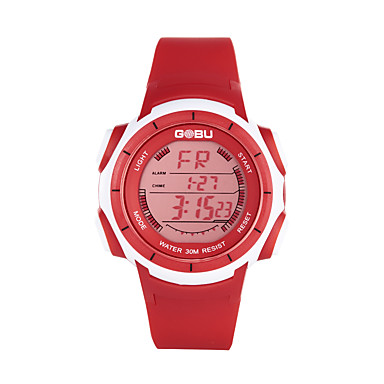 Erkek Spor Saat Elbise Saat İskelet Saat Moda Saat Bilek Saati Dijital saat Quartz Dijital Silikon Bant İhtişam Günlük Çok-Renkli
