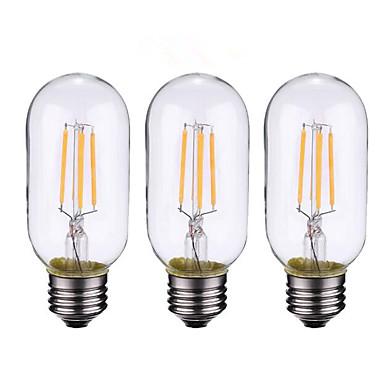 ONDENN 3szt 4W 500-600 lm B22 E26/E27 Żarówka dekoracyjna LED 4 Diody lED COB Przysłonięcia Ciepła biel AC 220-240 AC 110-130 V