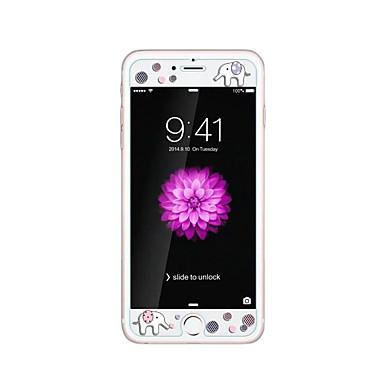لابل اي فون 6 / 6S معينة 4.7inch خفف من الزجاج الشفاف واقي الشاشة الأمامية مع الكرتون زخرف نمط توهج في الظلام الفيل