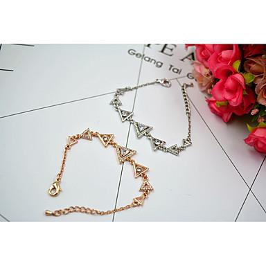 Γυναικεία Βραχιόλια με Αλυσίδα & Κούμπωμα Κρυστάλλινο Φύση Μοντέρνα κοσμήματα πολυτελείας Εξατομικευόμενο ΕυρωπαϊκόΚρύσταλλο Ζιρκονίτης