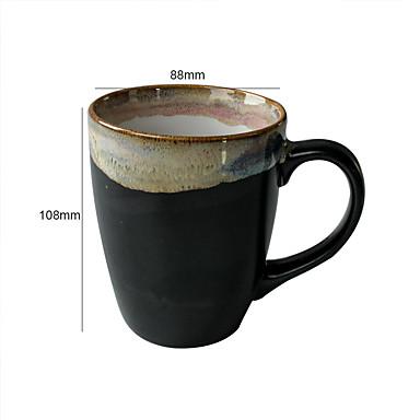 Erikois Juomalasit, 400 ml Ergonominen suunnittelu Uudelleenkäytettävä Keraaminen Olut Vesi Kahvimukit