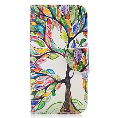 Pouzdro Uyumluluk Samsung Galaxy A5(2017) A3(2017) Kart Tutucu Cüzdan Satandlı Flip Tam Kaplama Kılıf ağaç Sert PU Deri için A3 (2017) A5
