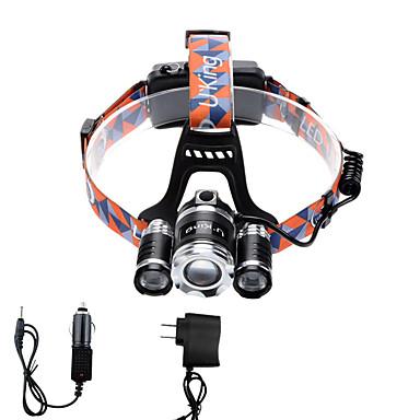 U'King Czołówki Reflektor LED 2400 lm 12 4.0 Tryb Cree XP-G R5 Cree XM-L T6 z ładowarkami Zoomable Regulacja promienia Niewielki rozmiar