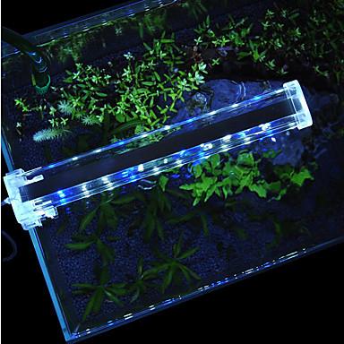 Akvaryumlar LED Işık Beyaz Mavi Anahtar(lar) İle LED lamba 220VV