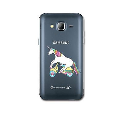 Pouzdro Uyumluluk Samsung Galaxy J7 (2016) J5 (2016) Ultra İnce Temalı Arka Kılıf Tek boynuzlu Yumuşak TPU için J7 (2016) J5 (2016)