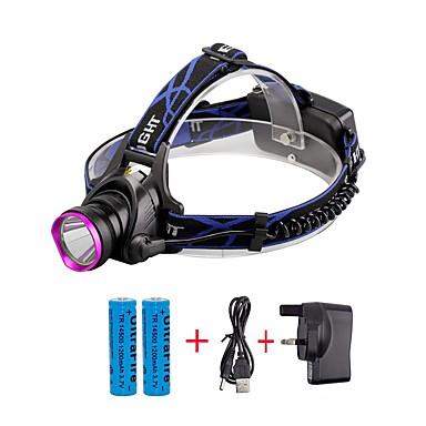 U'King Czołówki Reflektor LED 2000 lm 3 Tryb Cree XM-L T6 z bateriami i ładowarką Zoomable Regulacja promienia Wielofunkcyjne Niewielki