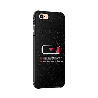 Varten Iskunkestävä Kuvio Etui Takakuori Etui Sana / lause Pehmeä Silikoni varten AppleiPhone 7 Plus iPhone 7 iPhone 6s Plus iPhone 6