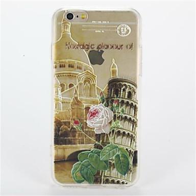 Için Şeffaf Temalı Pouzdro Arka Kılıf Pouzdro Şehir Manzarası Sert PC için AppleiPhone 7 Plus iPhone 7 iPhone 6s Plus iPhone 6 Plus