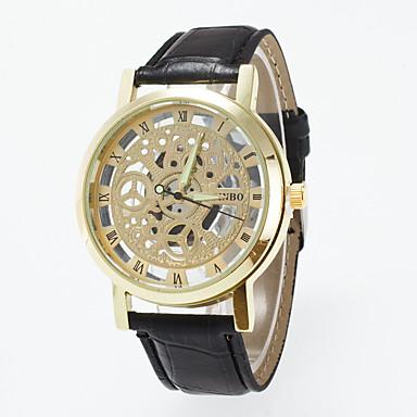 Erkek Spor Saat Elbise Saat Moda Saat Bilek Saati Çince Quartz Gerçek Deri Bant İhtişam Günlük Yaratıcı Çok-Renkli