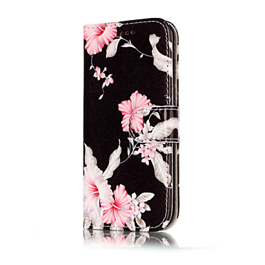 Kılıf Na Samsung Galaxy A5(2017) A3(2017) Etui na karty Portfel Z podpórką Flip Wzór Pełne etui Kwiaty Twarde Skóra PU na A3 (2017) A5