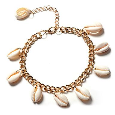 Kadın Ayak bileziği/Bilezikler Değerli Taş alaşım Moda Bohemia Stili Altın Gümüş Bayanlar Mücevher Için Parti Günlük 1pc