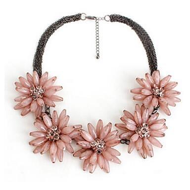 Kadın's Açıklama Kolye imitasyon Pırlanta Çiçekli Mücevher Uyumluluk Özel Anlar Günlük