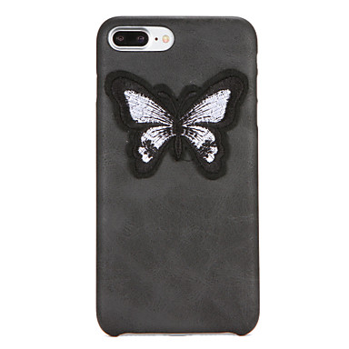 Kılıf Na Apple iPhone 7 Plus iPhone 7 DIY Czarne etui Motyl Twarde Skóra PU na iPhone 7 Plus iPhone 7 iPhone 6s Plus iPhone 6s iPhone 6