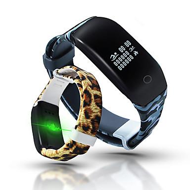 سوار الذكية iOS Android شاشة لمس رصد معدل ضربات القلب مقاوم للماء رمادي داكن عداد الخطى العناية الصحية لون القهوة إسبات الطويل متعددة