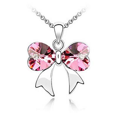 Damskie Naszyjniki z wisiorkami Kryształ Heart Shape Unikalny Osobiste Biżuteria Na Ślub