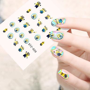 5pcs/set Sanat Sticker Nail Su Transferi Çıkartmaları Makyaj Kozmetik Sanat Tasarım Nail