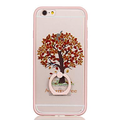 Için Yüzüklü Tutacak Şeffaf Temalı Pouzdro Arka Kılıf Pouzdro Ağaç Sert PC için Apple iPhone 6s Plus iPhone 6 Plus iPhone 6s iphone 6