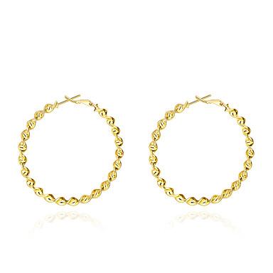 Kadın Vidali Küpeler Mücevher Basic Tasarım Altın Kaplama Mücevher Mücevher Uyumluluk Düğün Parti Günlük