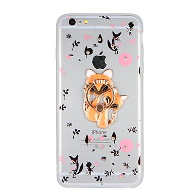 Varten Paljetti Sormuksen pidike DIY Etui Takakuori Etui Eläin Kova Akryyli varten AppleiPhone 7 Plus iPhone 7 iPhone 6s Plus iPhone 6