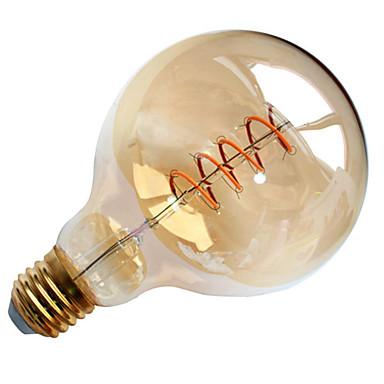 1 buc 4W 300-400lm E26 / E27 Bec Filet LED G95 1pcs LED-uri de margele COB Soft Filament Decorativ Alb Cald 220-240V