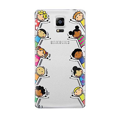 Maska Pentru Samsung Galaxy Transparent Model Capac Spate Desene Animate Moale TPU pentru Note 5 Note 4 Note 3 Note 2