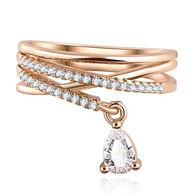 γαμήλιο πάρτι σταγόνα νερού διαμάντι κρεμαστό κόσμημα πολυτελείας σταυρό πολυώροφο δαχτυλίδι (χρυσό και ασήμι)