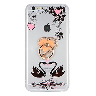 Na Stras Uchwyt pierścieniowy DIY Kılıf Etui na tył Kılıf Wzór zwierzęcy Kwiat Twarde Akrylowy na AppleiPhone 7 Plus iPhone 7 iPhone 6s