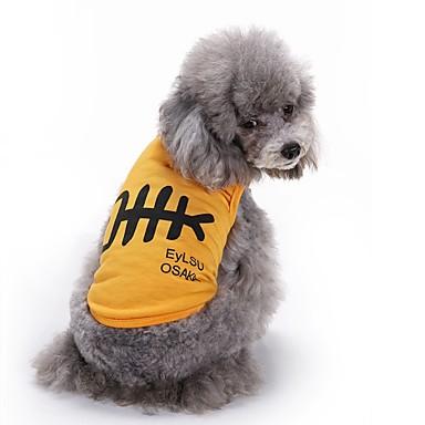 Koty Psy Yelek Ubrania dla psów Lato Wzór zwierzęcy Urocze Modny Codzienne White Yellow Niebieski