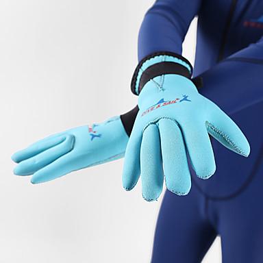 الغوص قفازات ملابس القطن اصبع كامل الدفء مقاوم للماء الأشعة فوق البنفسجية مقاوم متنفس مضاد للانزلاق خفيف الوزن غوص للأطفال