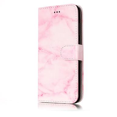 Varten Lomapkko Korttikotelo Tuella Flip Kuvio Etui Kokonaan peittävä Etui Marmori Kova Tekonahka varten HuaweiHuawei P10 Lite Huawei P10