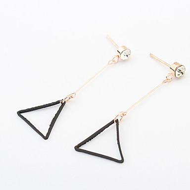 نساء أقراط قطرة euramerican في سبيكة Triangle Shape مجوهرات من أجل يوميا