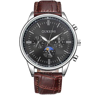 Bărbați Ceas Elegant Ceas La Modă Ceas Casual Chineză Quartz PU Bandă Cool Casual Maro Alb Negru Maro Albastru