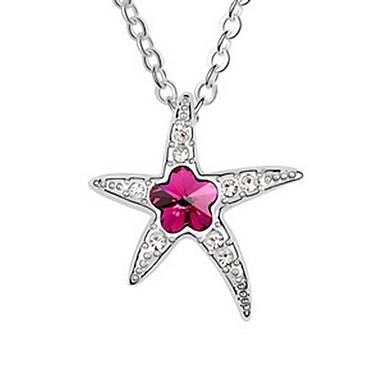 Γυναικεία Κρεμαστά Κολιέ Κρυστάλλινο Star Shape Μπικίνι Κοσμήματα Για Causal Παραλία