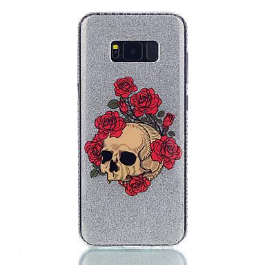 Kılıf Na Samsung Galaxy S8 Plus S8 IMD Wzór Etui na tył Połysk Kwiaty Czaszki Twarde PC na S8 S8 Plus S7 edge S7