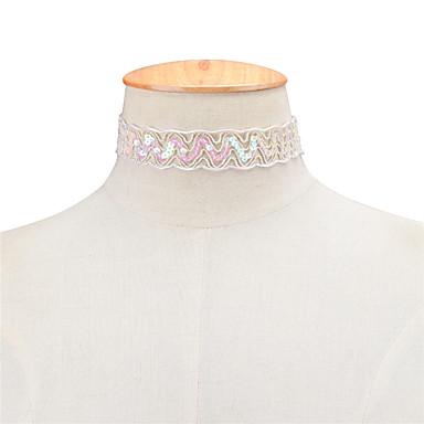 Pentru femei Geometric Shape Personalizat Design Unic Modă Euramerican Coliere Choker Bijuterii Dantelă Coliere Choker . Petrecere Ocazie